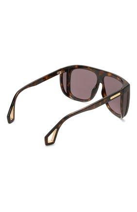 Женские солнцезащитные очки GUCCI коричневого цвета, арт. GG0467 003 | Фото 4