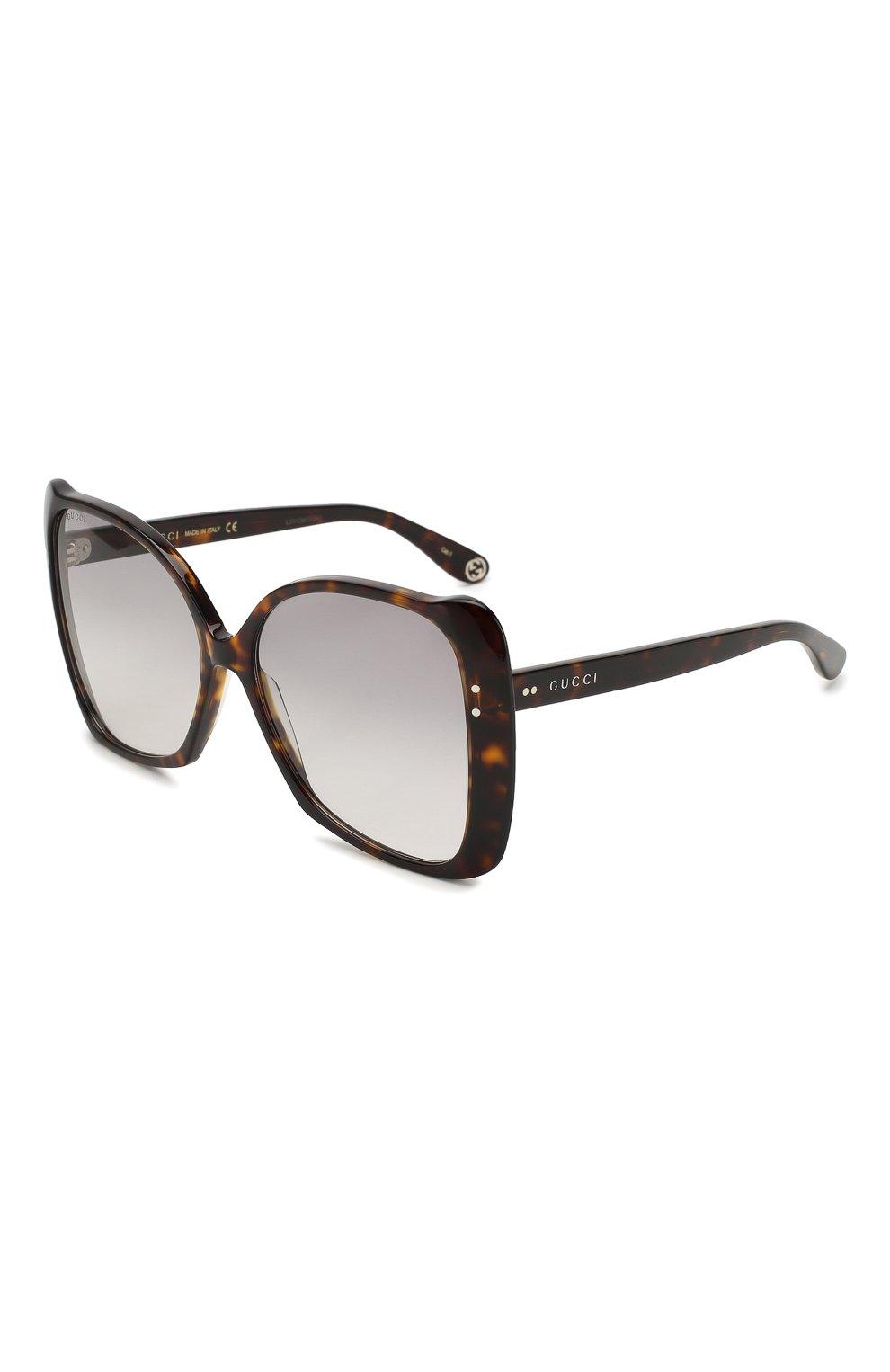 Женские солнцезащитные очки GUCCI коричневого цвета, арт. GG0471 002 | Фото 1
