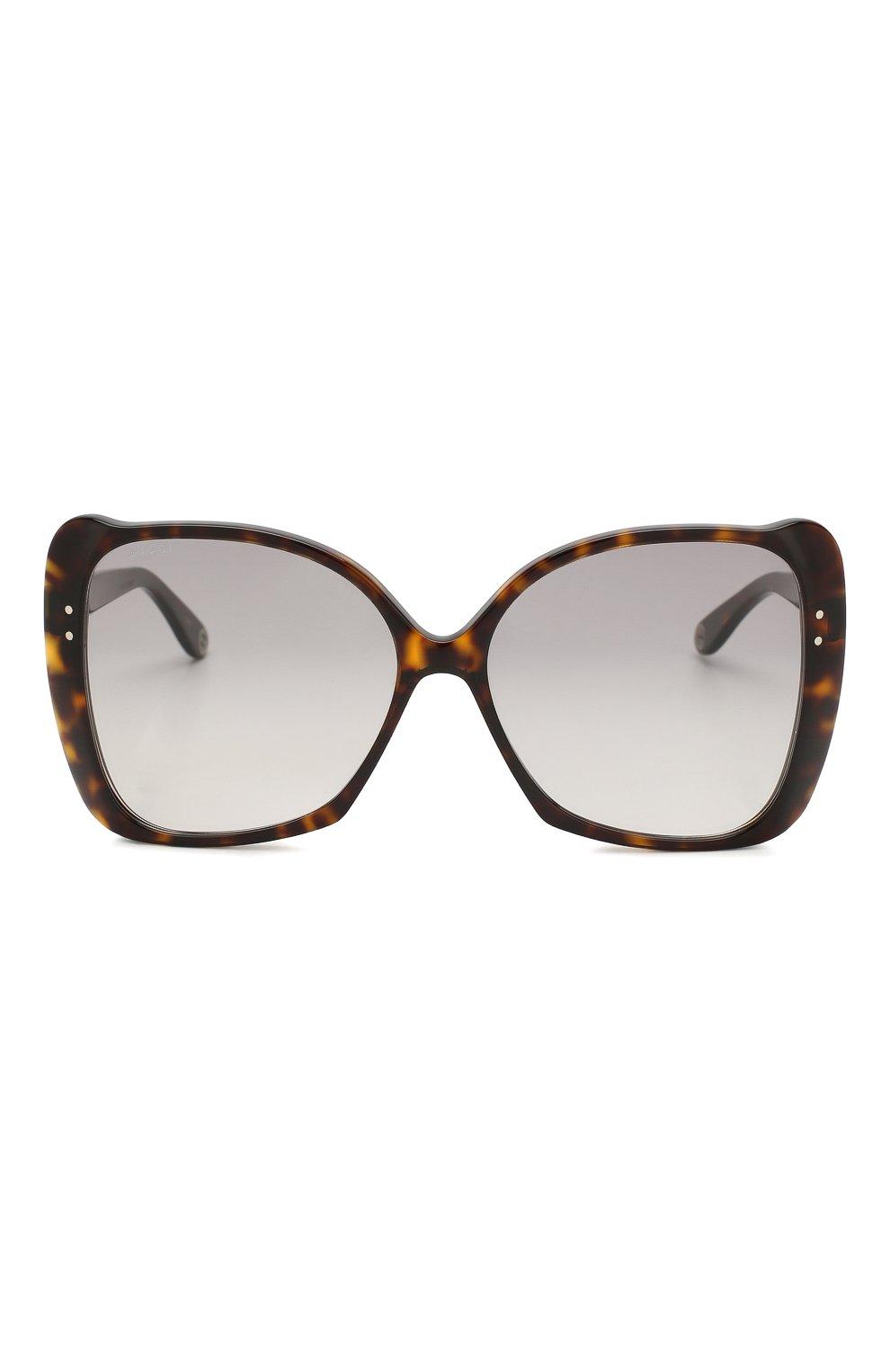 Женские солнцезащитные очки GUCCI коричневого цвета, арт. GG0471 002 | Фото 3