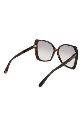 Женские солнцезащитные очки GUCCI коричневого цвета, арт. GG0471 002 | Фото 4