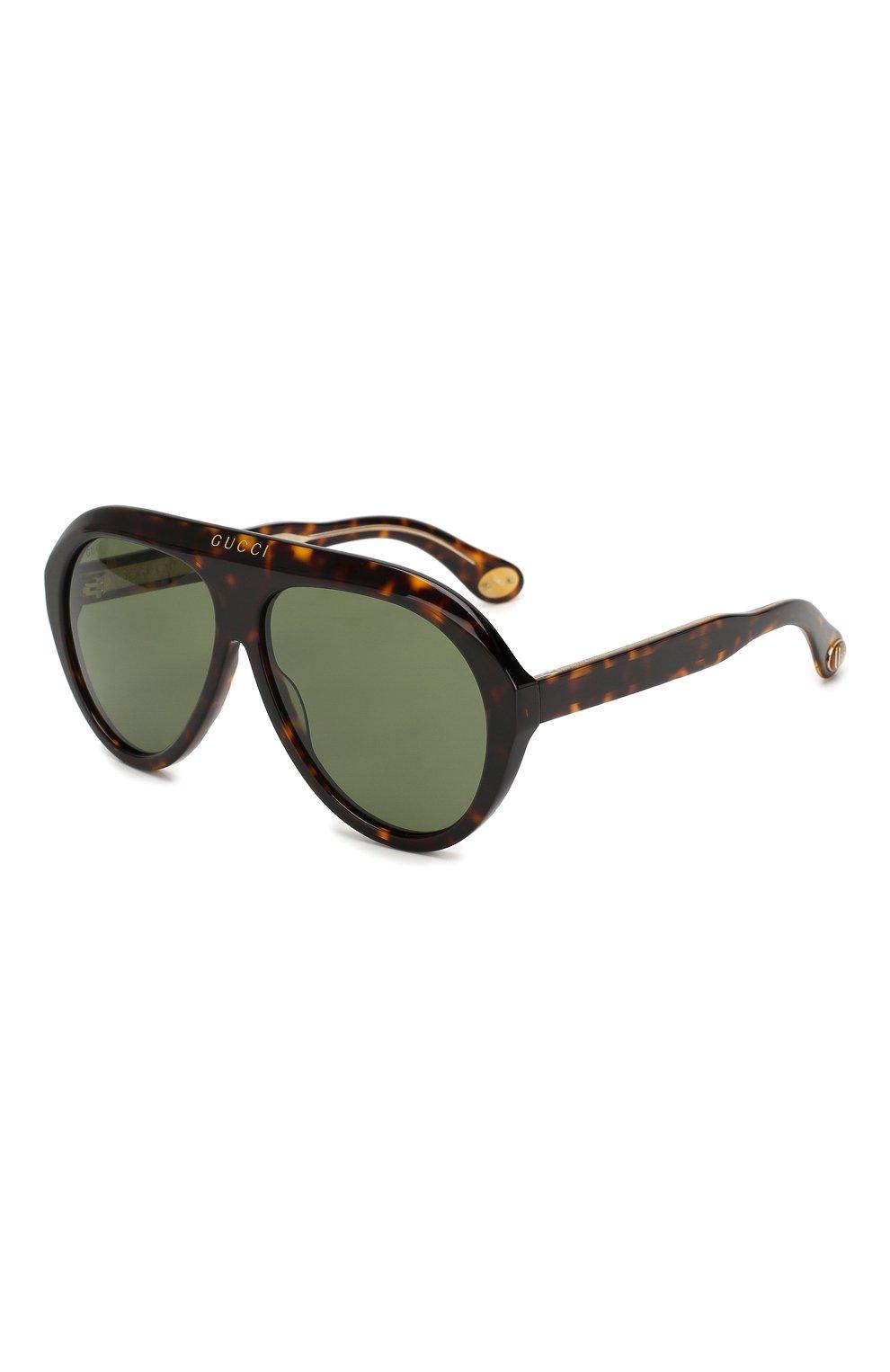 Женские солнцезащитные очки GUCCI коричневого цвета, арт. GG0479 003 | Фото 1