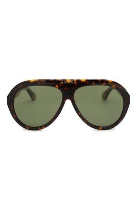 Женские солнцезащитные очки GUCCI коричневого цвета, арт. GG0479 003 | Фото 3