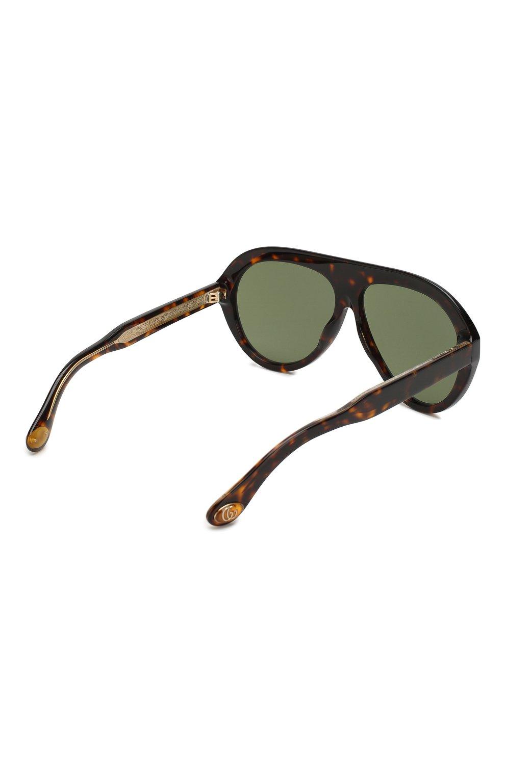 Женские солнцезащитные очки GUCCI коричневого цвета, арт. GG0479 003 | Фото 4