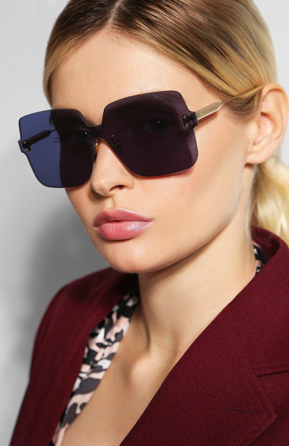Женские солнцезащитные очки DIOR темно-синего цвета, арт. DI0RC0L0RQUAKE1 PJP | Фото 2