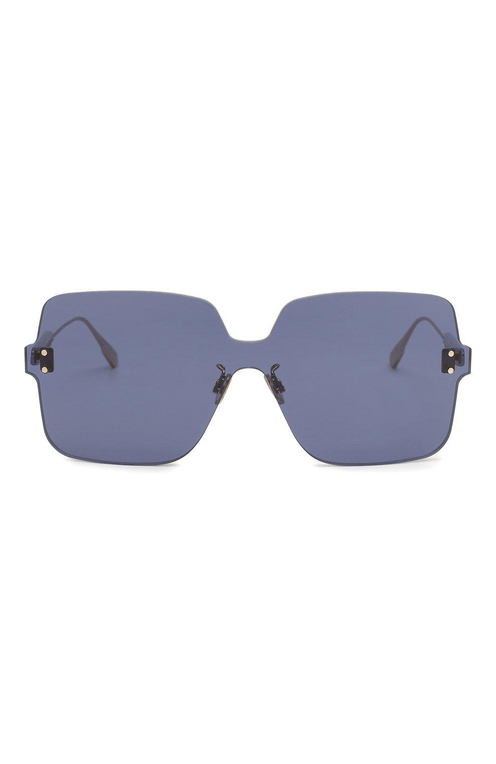 Женские солнцезащитные очки DIOR темно-синего цвета, арт. DI0RC0L0RQUAKE1 PJP | Фото 3