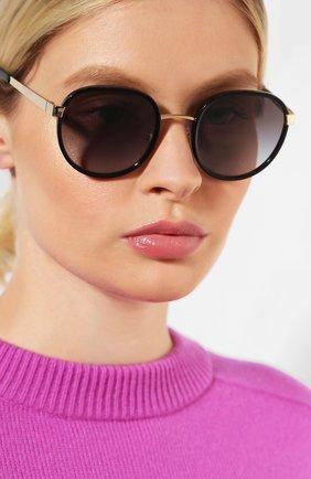 Женские солнцезащитные очки DOLCE & GABBANA черного цвета, арт. 2227J-02/8G   Фото 2