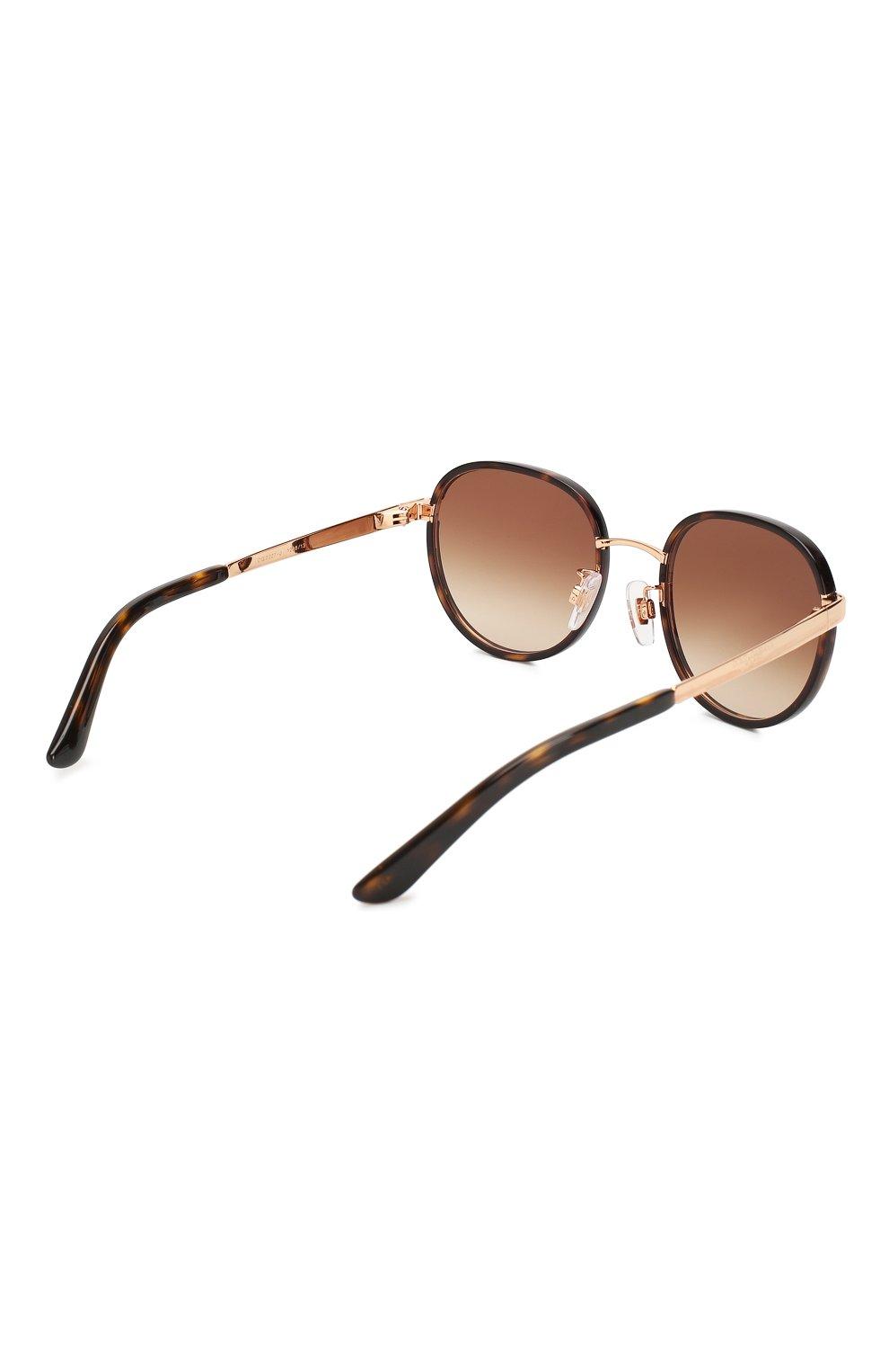 Женские солнцезащитные очки DOLCE & GABBANA коричневого цвета, арт. 2227J-129813   Фото 4
