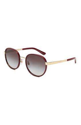 Мужские солнцезащитные очки DOLCE & GABBANA бордового цвета, арт. 2227J-13188G | Фото 1