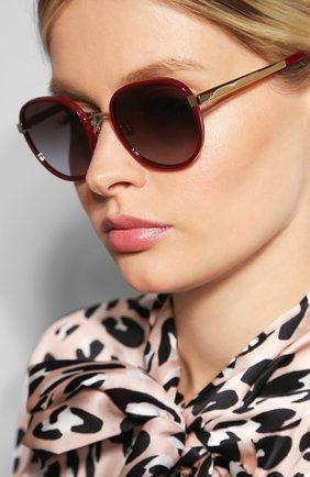Мужские солнцезащитные очки DOLCE & GABBANA бордового цвета, арт. 2227J-13188G | Фото 2