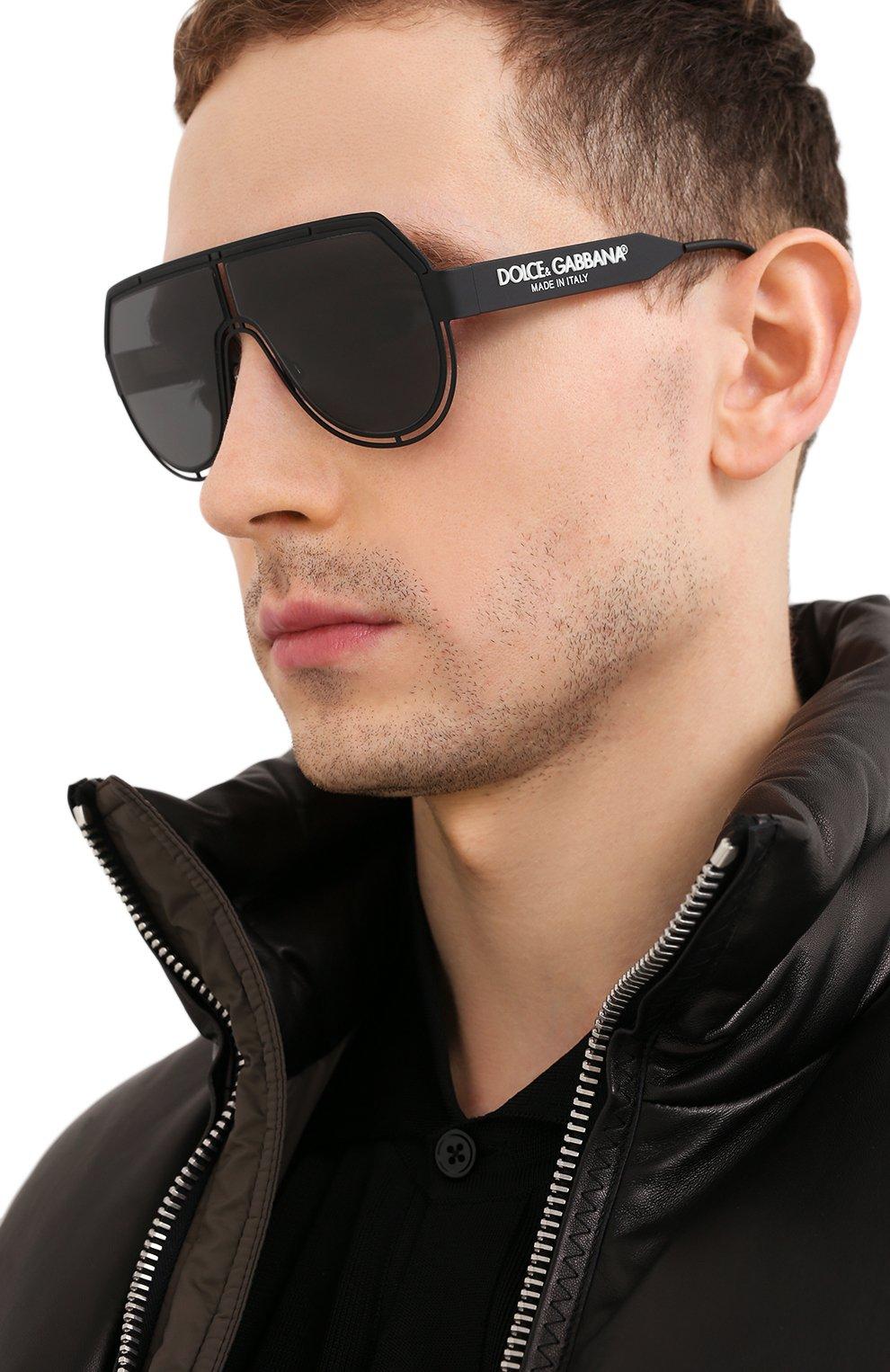 Мужские солнцезащитные очки DOLCE & GABBANA черного цвета, арт. 2231-327687   Фото 2