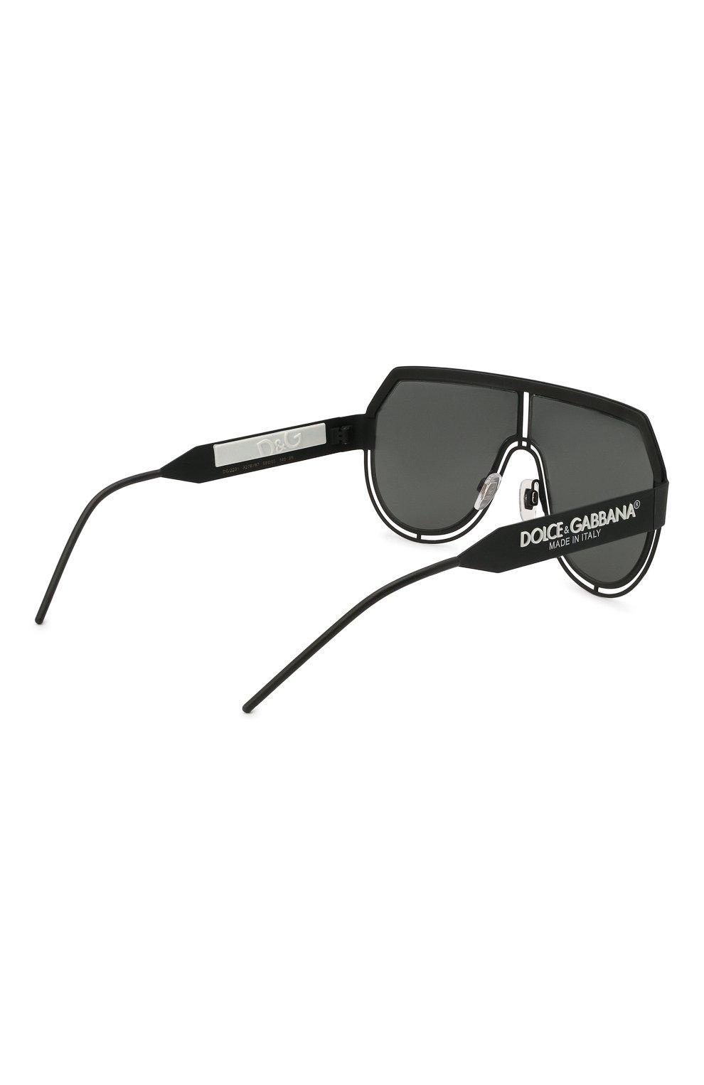 Мужские солнцезащитные очки DOLCE & GABBANA черного цвета, арт. 2231-327687   Фото 4
