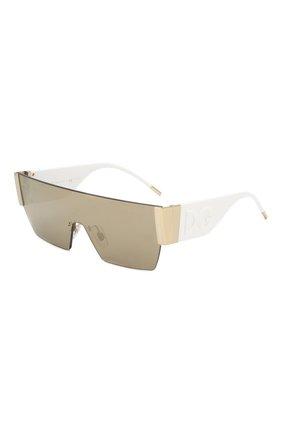 Мужские солнцезащитные очки DOLCE & GABBANA белого цвета, арт. 2233-488/5A   Фото 1