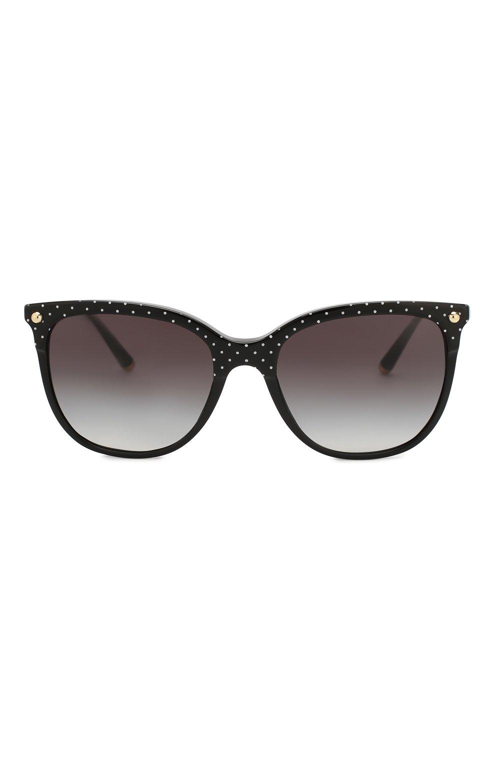 Женские солнцезащитные очки DOLCE & GABBANA черного цвета, арт. 4333-31268G | Фото 3