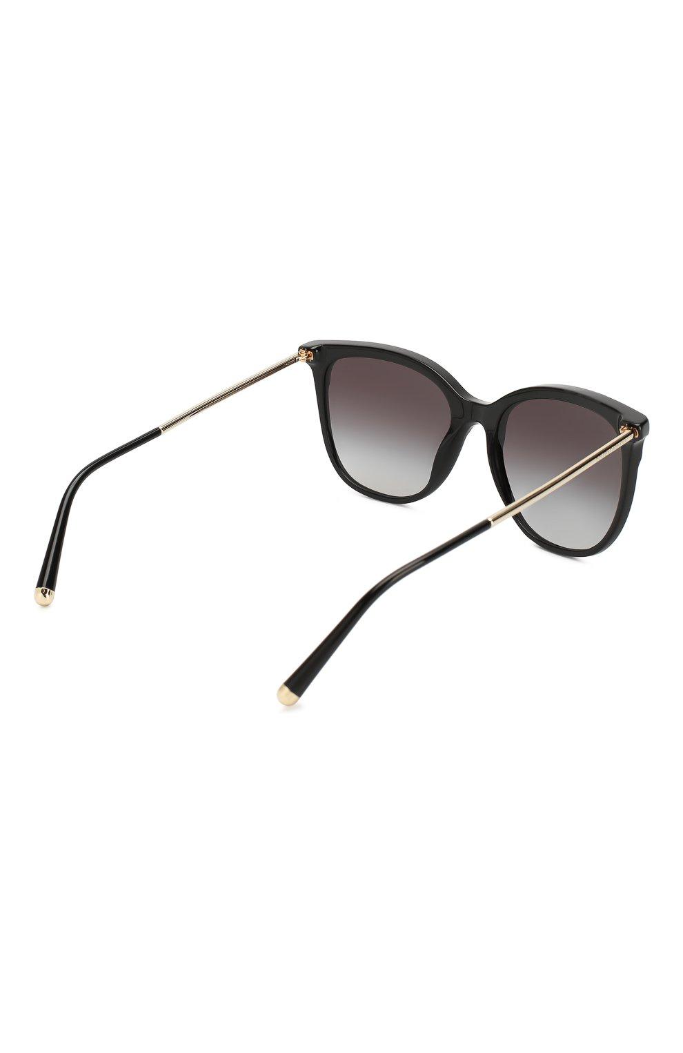 Женские солнцезащитные очки DOLCE & GABBANA черного цвета, арт. 4333-31268G | Фото 4