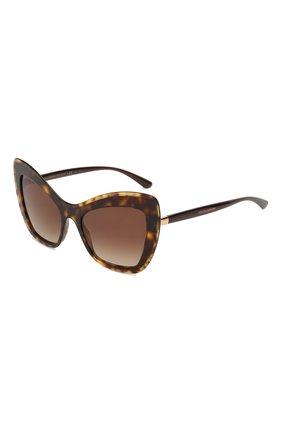 Мужские солнцезащитные очки DOLCE & GABBANA коричневого цвета, арт. 4364-502/13 | Фото 1