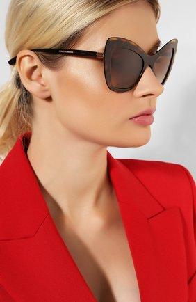 Мужские солнцезащитные очки DOLCE & GABBANA коричневого цвета, арт. 4364-502/13 | Фото 2