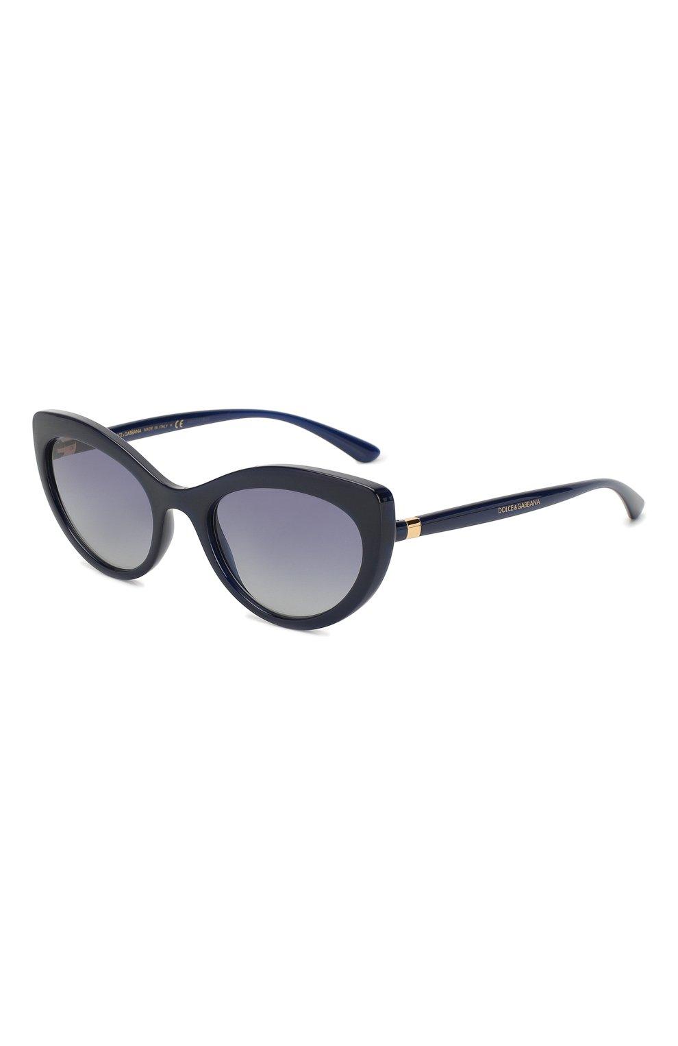 Женские солнцезащитные очки DOLCE & GABBANA синего цвета, арт. 6124-30944L   Фото 1