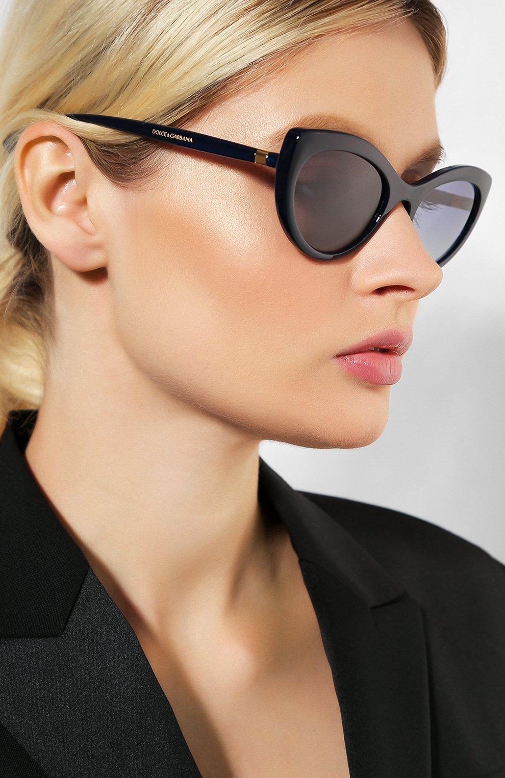 Женские солнцезащитные очки DOLCE & GABBANA синего цвета, арт. 6124-30944L   Фото 2