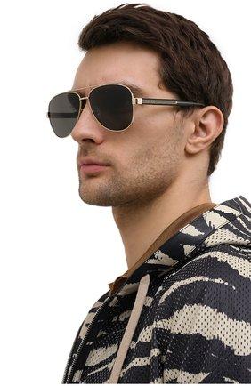 Мужские солнцезащитные очки GUCCI черного цвета, арт. GG0528 006   Фото 3