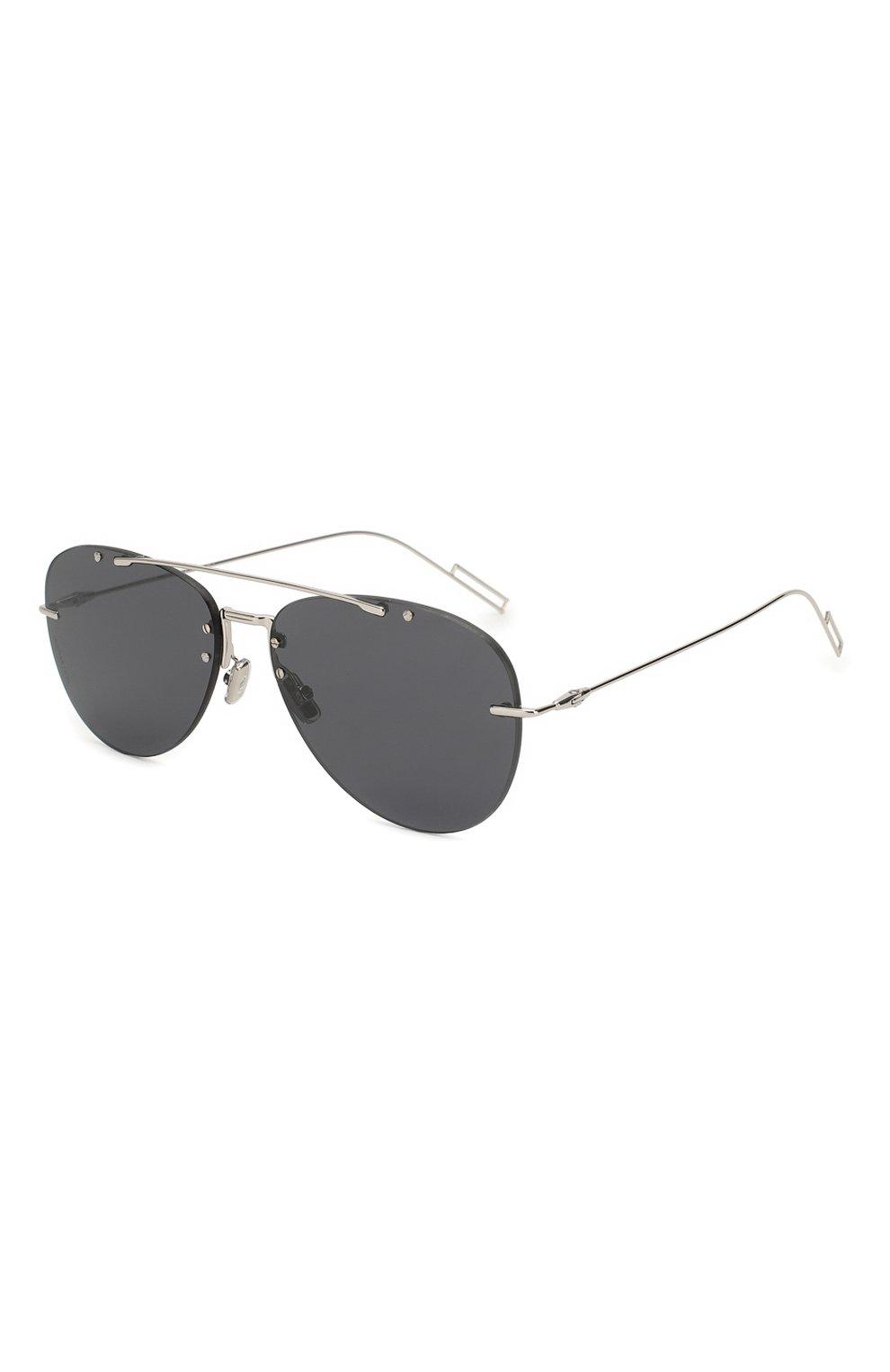 Мужские солнцезащитные очки DIOR темно-серого цвета, арт. DI0RCHR0MA1F 010 2K | Фото 1