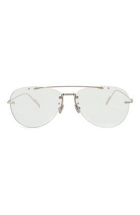 Мужские солнцезащитные очки DIOR серебряного цвета, арт. DI0RCHR0MA1F 3YG   Фото 2