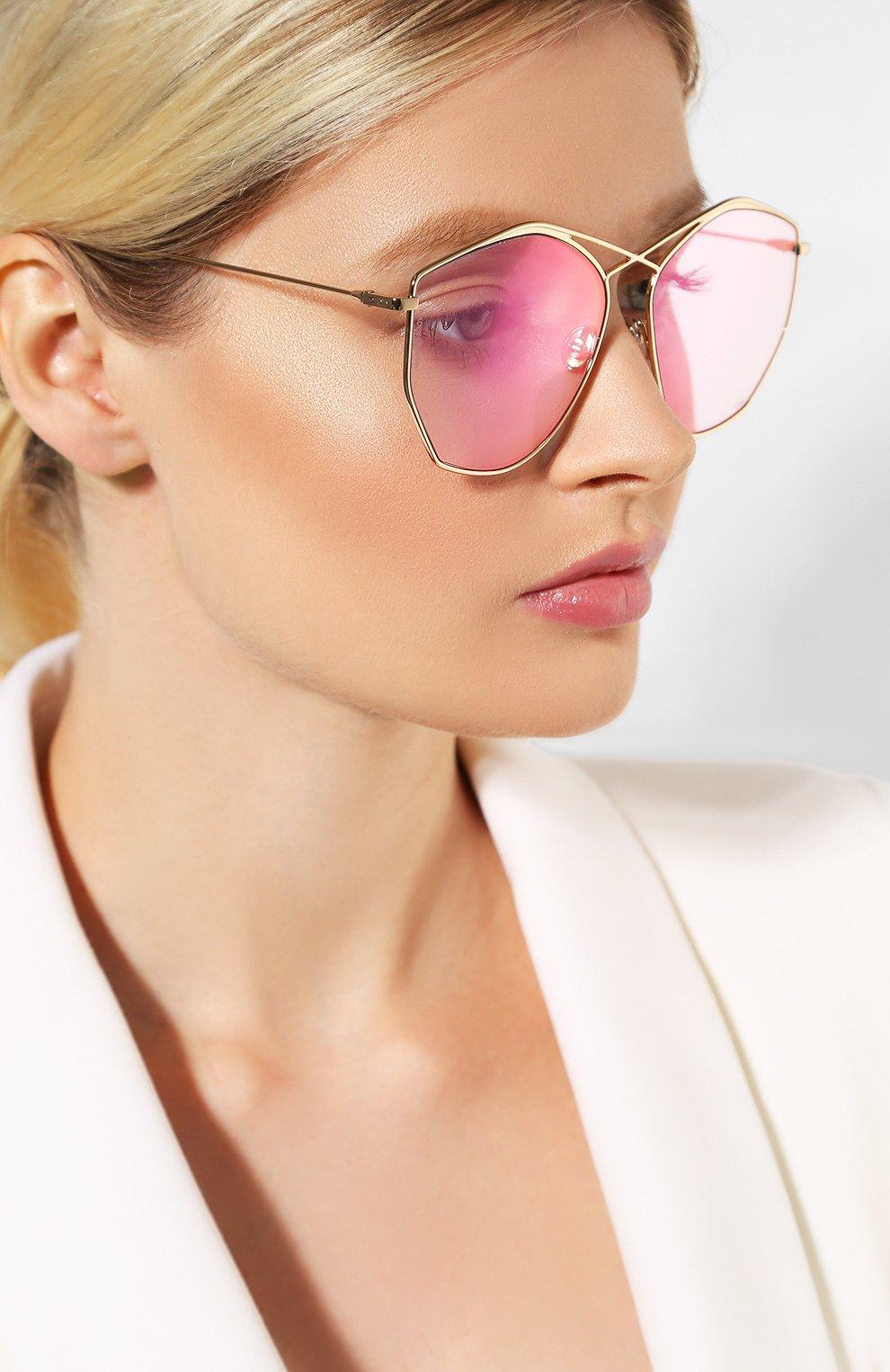 Женские солнцезащитные очки DIOR светло-розового цвета, арт. DI0RSTELLAIRE4 000 | Фото 2