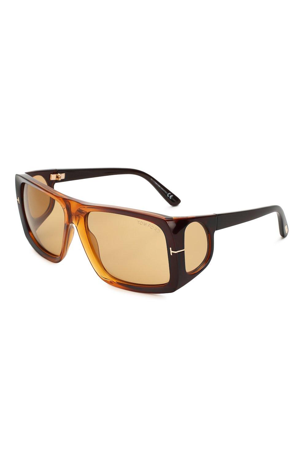 Женские солнцезащитные очки TOM FORD коричневого цвета, арт. TF730 48E | Фото 1
