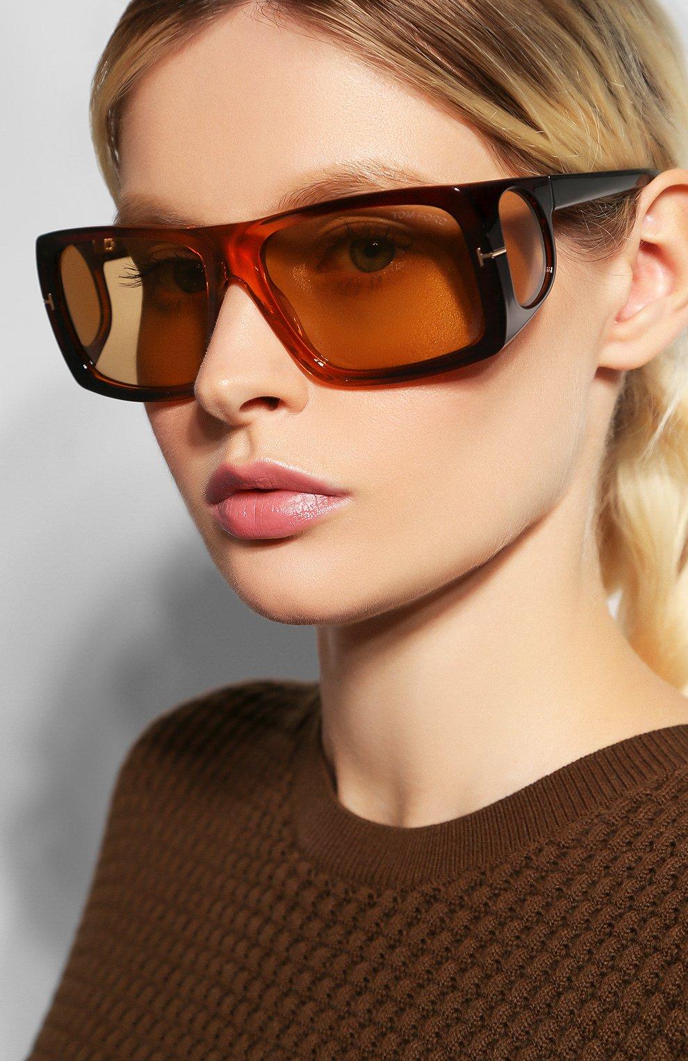 Женские солнцезащитные очки TOM FORD коричневого цвета, арт. TF730 48E | Фото 2