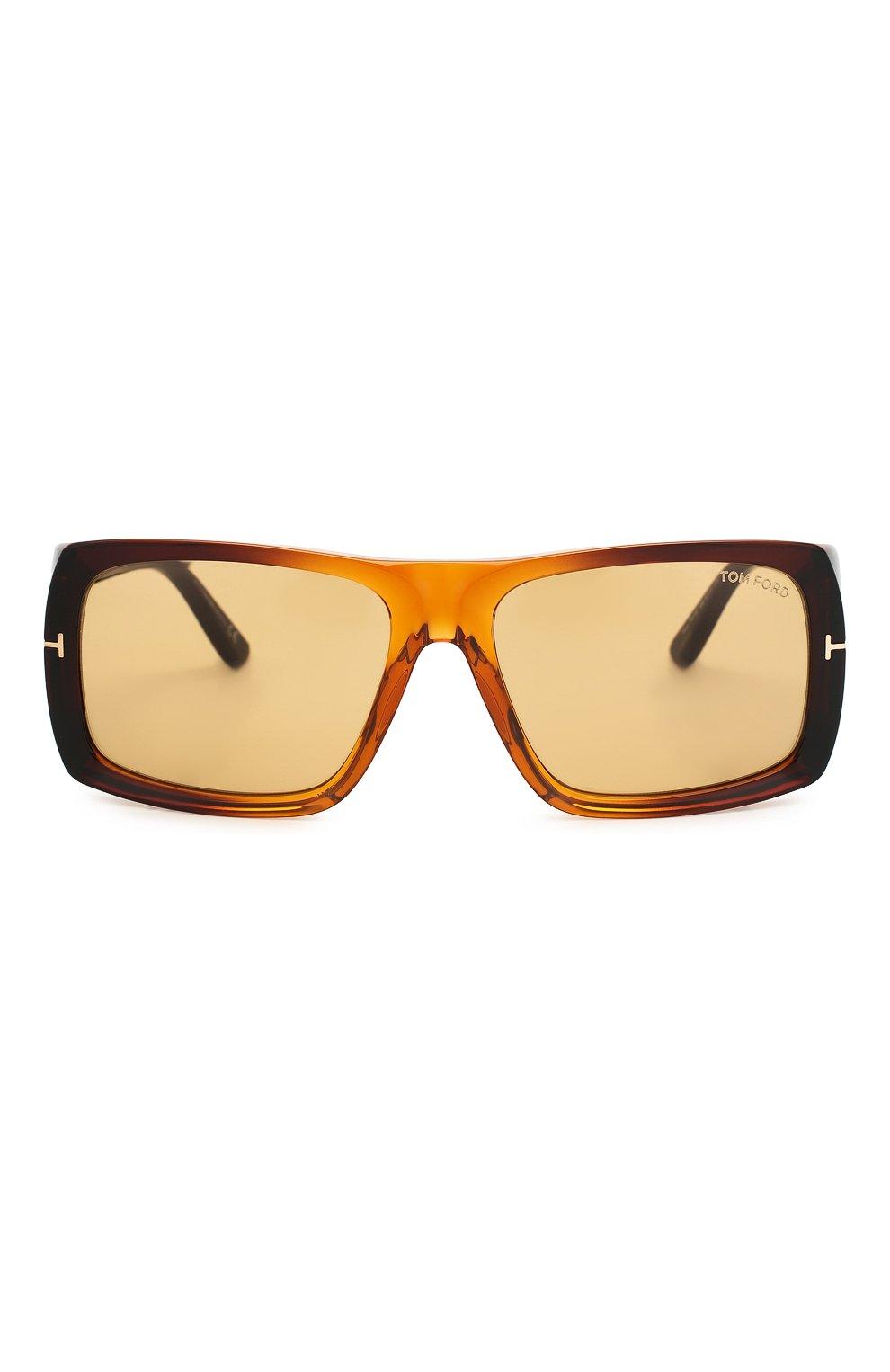 Женские солнцезащитные очки TOM FORD коричневого цвета, арт. TF730 48E | Фото 3