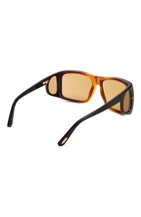 Женские солнцезащитные очки TOM FORD коричневого цвета, арт. TF730 48E | Фото 4