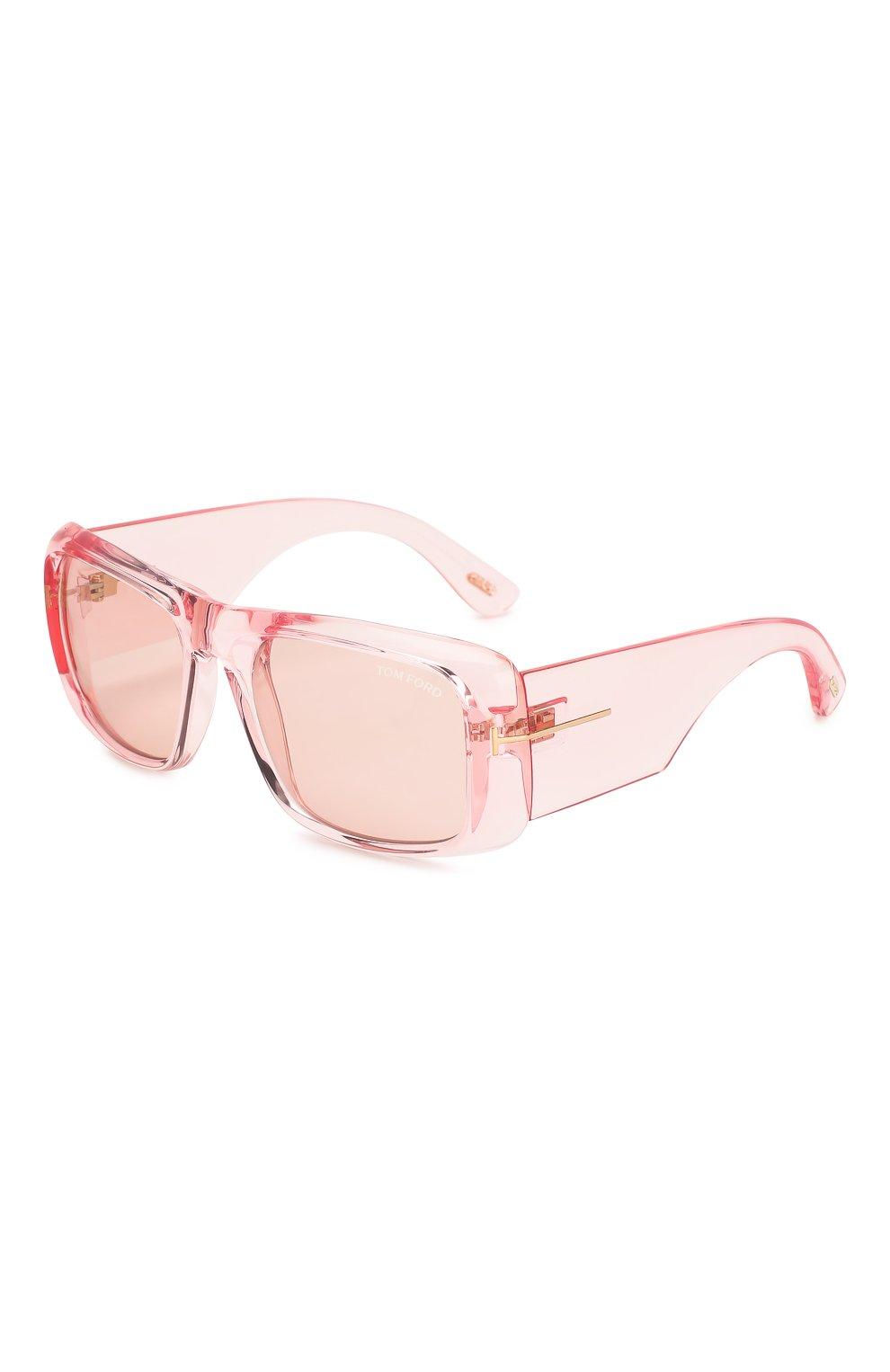 Женские солнцезащитные очки TOM FORD светло-розового цвета, арт. TF731 72Y | Фото 1