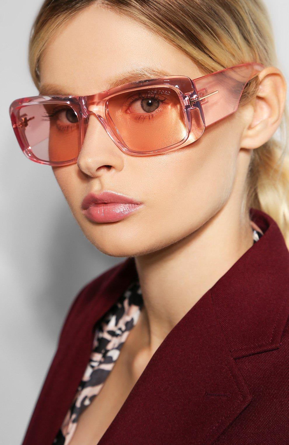Женские солнцезащитные очки TOM FORD светло-розового цвета, арт. TF731 72Y | Фото 2