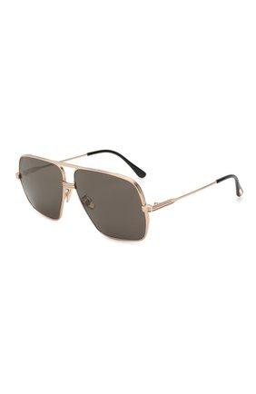 Мужские солнцезащитные очки TOM FORD золотого цвета, арт. TF735-H 28A | Фото 1