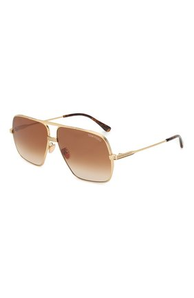 Мужские солнцезащитные очки TOM FORD золотого цвета, арт. TF735-H 30F | Фото 1