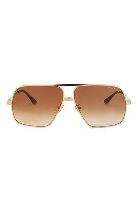 Мужские солнцезащитные очки TOM FORD золотого цвета, арт. TF735-H 30F | Фото 2