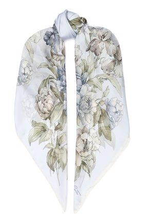 Женский шелковый платок EMILIO CONTE серого цвета, арт. K01414 SH530 | Фото 1