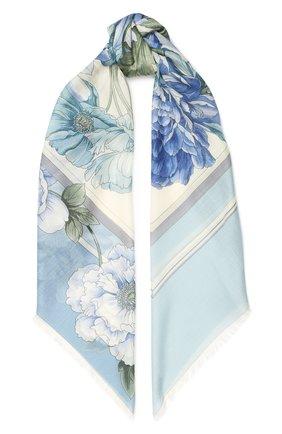 Женский платок из кашемира и шелка EMILIO CONTE синего цвета, арт. K01414 SH314 | Фото 1