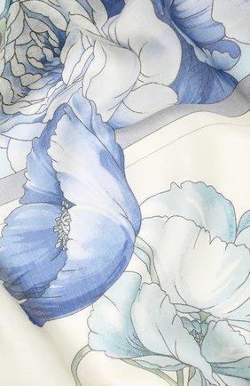 Женский платок из кашемира и шелка EMILIO CONTE синего цвета, арт. K01414 SH314 | Фото 2