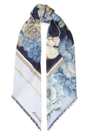 Женский платок из кашемира и шелка EMILIO CONTE светло-голубого цвета, арт. K01414 SH314 | Фото 1