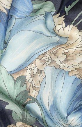 Женский платок из кашемира и шелка EMILIO CONTE светло-голубого цвета, арт. K01414 SH314 | Фото 2