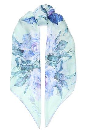 Женский шелковый платок EMILIO CONTE голубого цвета, арт. K01414 SG962 | Фото 1