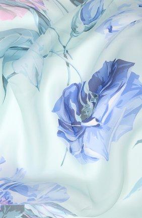 Женский шелковый платок EMILIO CONTE голубого цвета, арт. K01414 SG962 | Фото 2