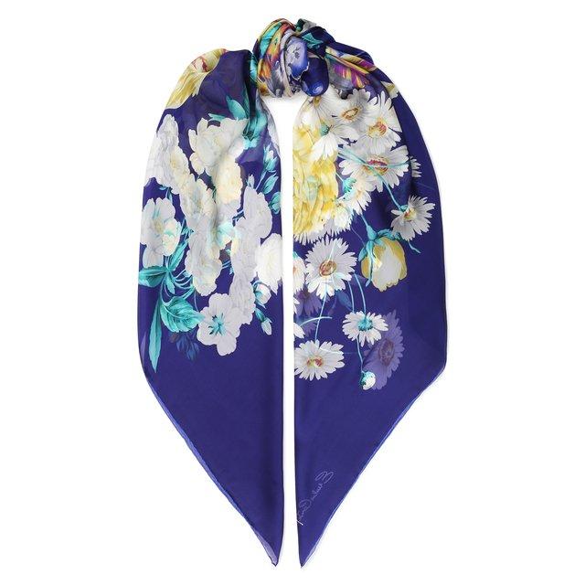 Шелковый платок с цветочным принтом Emilio Conte