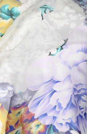 Женский шелковый платок с цветочным принтом EMILIO CONTE синего цвета, арт. K01414 SF081 | Фото 2