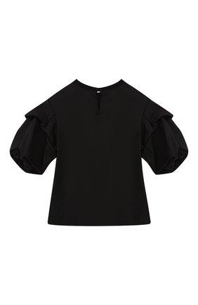 Детский хлопковый топ PHILOSOPHY DI LORENZO SERAFINI KIDS черного цвета, арт. PJCA23/CA241/UH018/XXS-XS   Фото 2