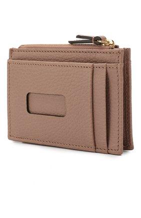 Женский кожаный футляр для кредитных карт GUCCI бежевого цвета, арт. 574804/CA00G | Фото 2
