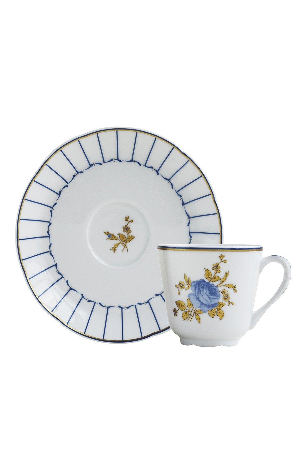 Мужского кофейная чашка с блюдцем brocante BERNARDAUD белого цвета, арт. 1829/79 | Фото 1