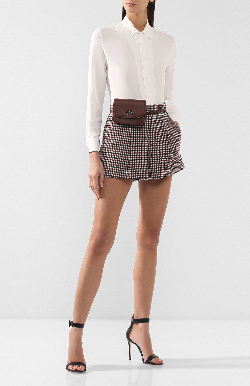 Женская поясная сумка flap pouch LORO PIANA коричневого цвета, арт. FAI7095 | Фото 2