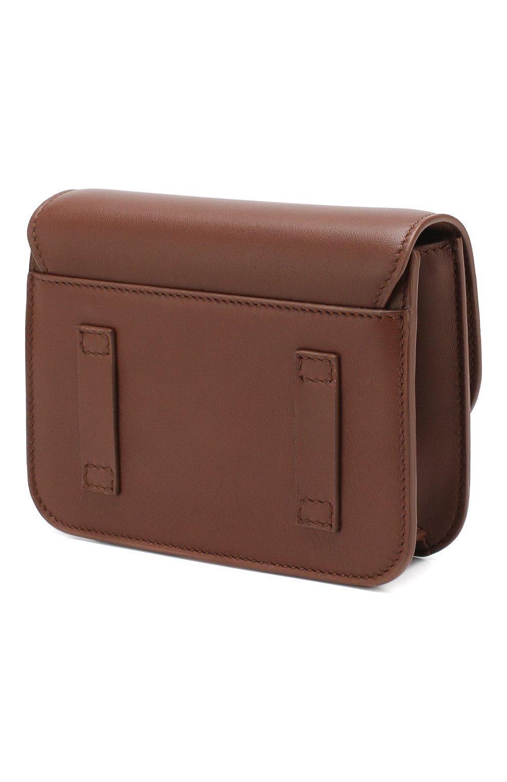 Женская поясная сумка flap pouch LORO PIANA коричневого цвета, арт. FAI7095 | Фото 3