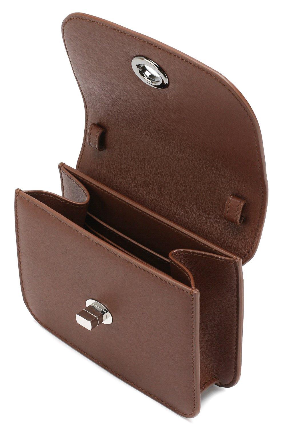 Женская поясная сумка flap pouch LORO PIANA коричневого цвета, арт. FAI7095 | Фото 4